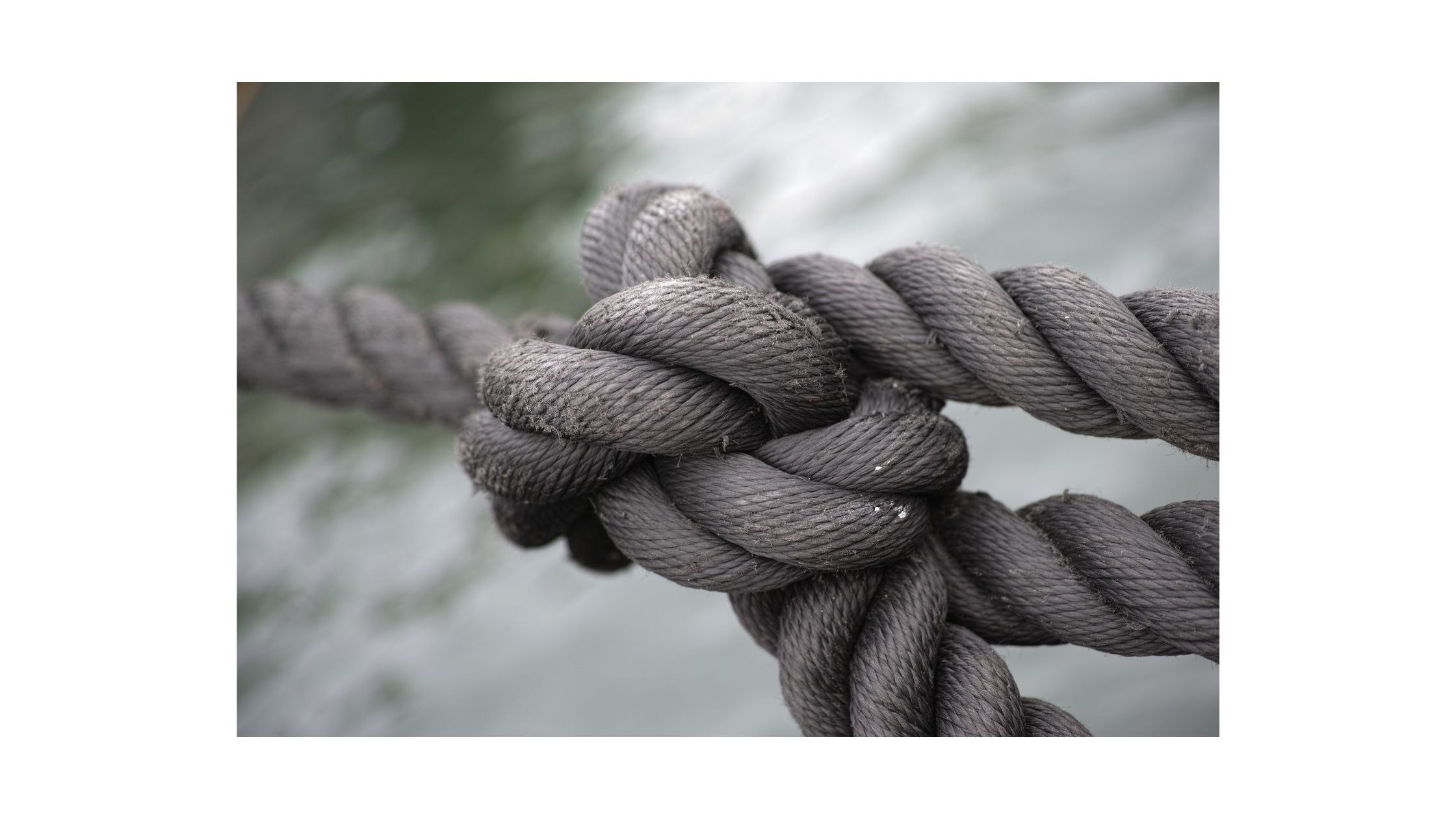 Worry knot. Made of four ropes coming together. Four causes of my worries